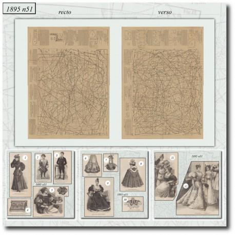 Patrons de La Mode Illustrée 1895 N°51