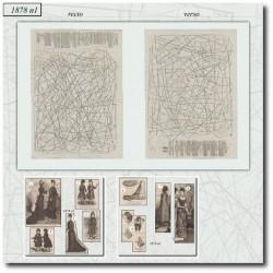 Sewing patterns La Mode Illustrée 1878 N°01