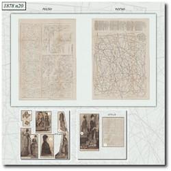 Sewing patterns La Mode Illustrée 1878 N°20