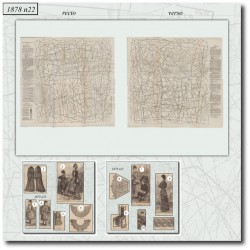 Sewing patterns La Mode Illustrée 1878 N°22