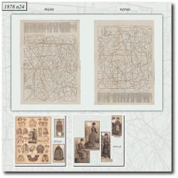 Sewing patterns La Mode Illustrée 1878 N°24