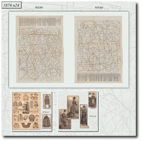 Patrons de La Mode Illustrée 1878 N°24