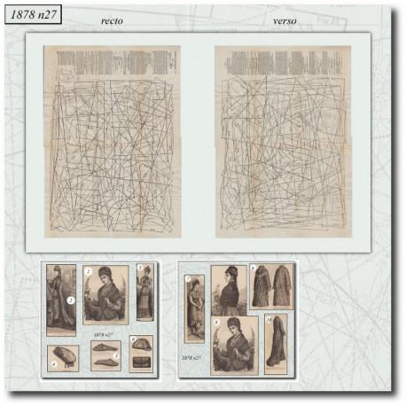 Patrons de La Mode Illustrée 1878 N°27