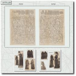 Patrons de La Mode Illustrée 1878 N°36