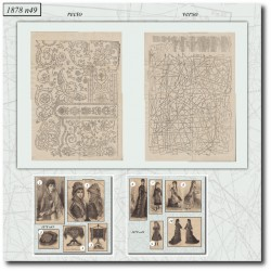 Patrons de La Mode Illustrée 1878 N°49