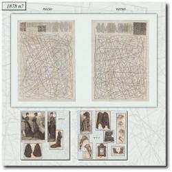 Sewing patterns La Mode Illustrée 1878 N°07