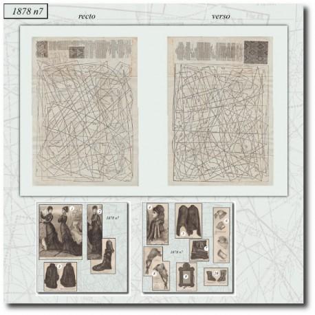 Patrons de La Mode Illustrée 1878 N°07