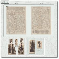 Patrons de La Mode Illustrée 1879 N°12