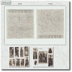 Patrons de La Mode Illustrée 1879 N°14