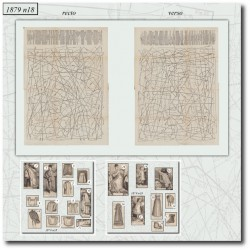 Antique sewing patterns La Mode Illustrée 1879 N°18