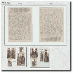 Patrons de La Mode Illustrée 1879 N°23