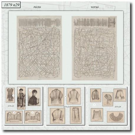 Patrons de La Mode Illustrée 1879 N°29