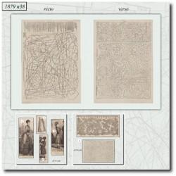 Old sewing patterns La Mode Illustrée 1879 N°38