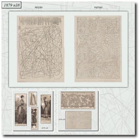 Patrons anciens de La Mode Illustrée 1879 N°38