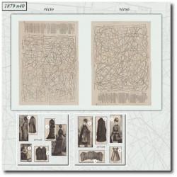 Sewing patterns La Mode Illustrée 1879 N°40