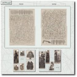 Sewing patterns La Mode Illustrée 1879 N°42