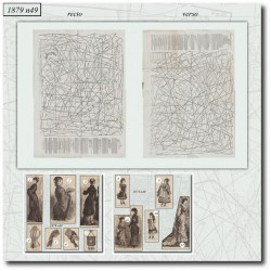 Sewing patterns La Mode Illustrée 1879 N°49