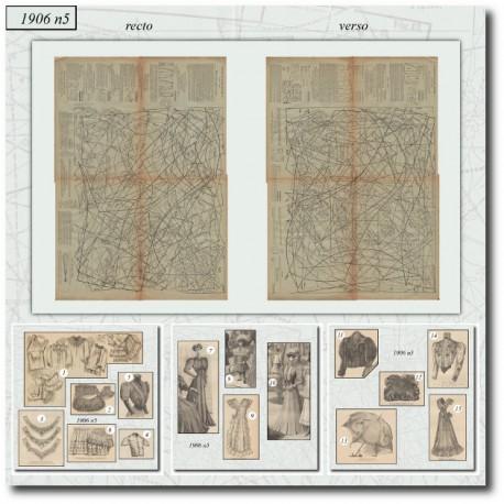 Sewing patterns La Mode Illustrée 1906 N°5