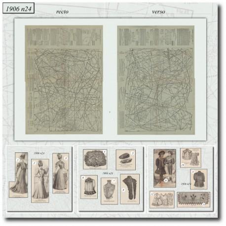 Patrons de La Mode Illustrée 1906 N°24