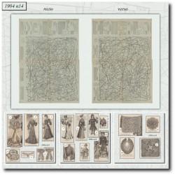 Patrons de La Mode Illustrée 1904 N°14