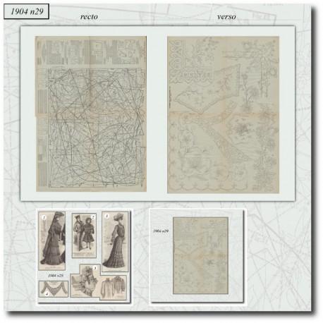 Sewing patterns La Mode Illustrée 1904 N°29