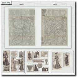 Patrons de La Mode Illustrée 1904 N°42