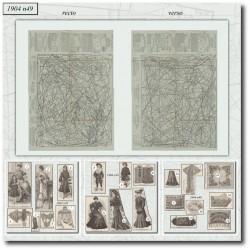 Sewing patterns La Mode Illustrée 1904 N°49
