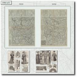 Patrons de La Mode Illustrée 1904 N°51