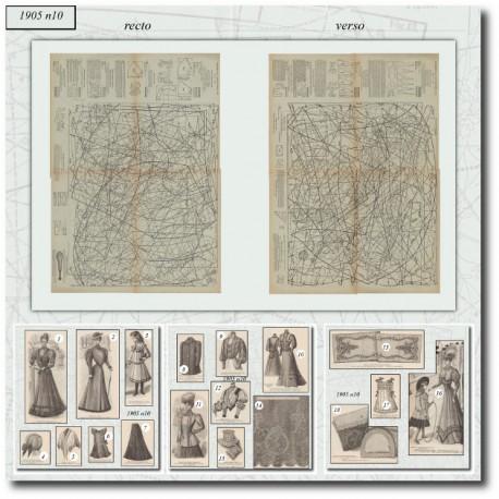Patrons de La Mode Illustrée 1905-10