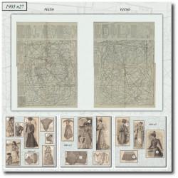 Sewing patterns La Mode Illustrée 1905 N°27