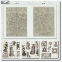 Sewing patterns La Mode Illustrée 1905 N°38