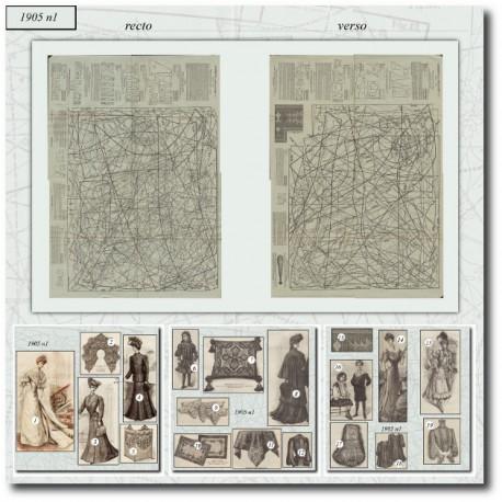 Patrons de La Mode Illustrée 1905 N°1