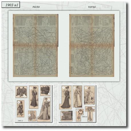 Sewing patterns La Mode Illustrée 1903 N°1