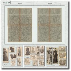 Sewing patterns La Mode Illustrée 1903 N°5