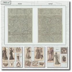 Sewing patterns La Mode Illustrée 1903 N°7