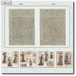 Sewing patterns La Mode Illustrée 1903 N°12