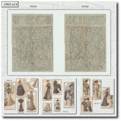 Patrons de La Mode Illustrée 1903 N°14