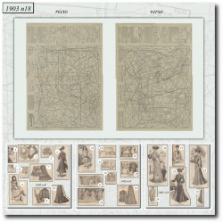 Patrons de La Mode Illustrée 1903 N°18