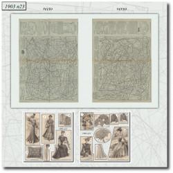 Patrons de La Mode Illustrée 1903 N°23