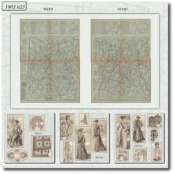 Patrons de La Mode Illustrée 1903 N°25