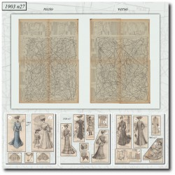 Patrons de La Mode Illustrée 1903 N°27