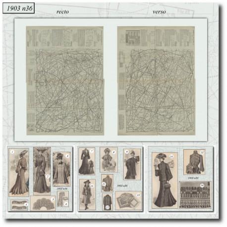Patrons de La Mode Illustrée 1903 N°36