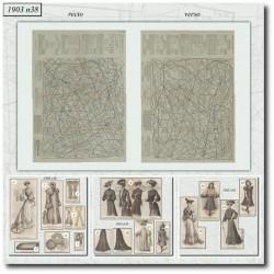 Patrons de La Mode Illustrée 1903 N°38