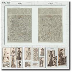 Sewing patterns La Mode Illustrée 1903 N°40