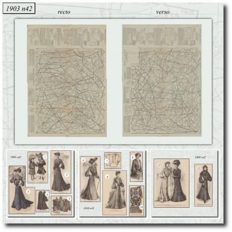 Patrons de La Mode Illustrée 1903 N°42