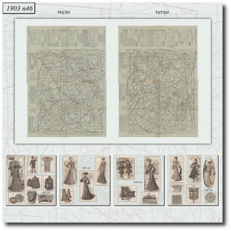 Sewing patterns La Mode Illustrée 1903 N°46