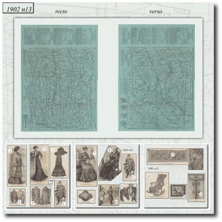 Patrons de robe de voyage et boléro 1902-13