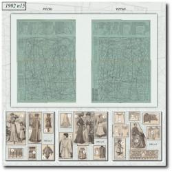 Sewing patterns La Mode Illustrée 1902 N°15
