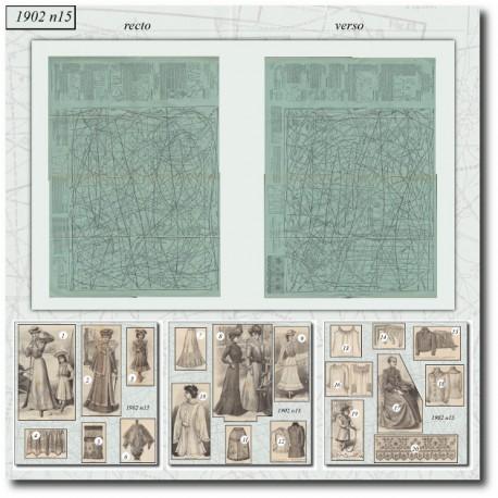Patrons de La Mode Illustrée 1902 N°15