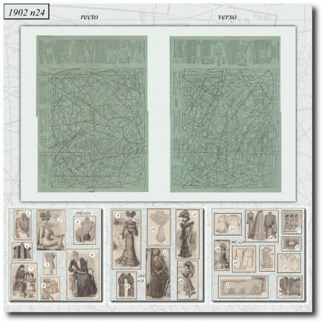 Patrons de La Mode Illustrée 1902 N°24